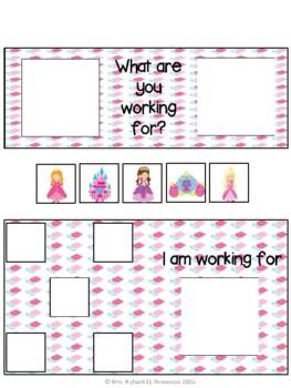 Girl Hobbies Token Board