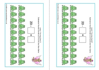 Fairy Subtraction Number Facts to 20