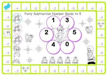 Fairy Subtraction Number Facts to 5