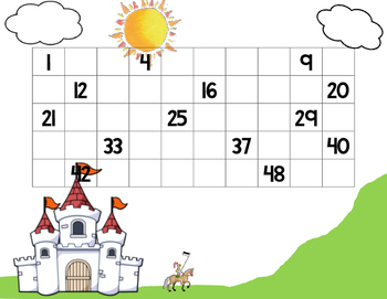 Fairy Tale 1-50 Number Chart