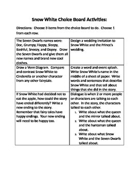 Fairy Tale Activities and  Graphic Organizers