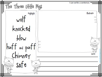 Fairy Tale Activities: retell stories, compare characters and build vocabulary