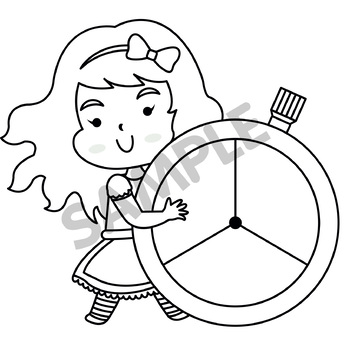 Fairy Tale : Alice in Wonderland Spinners Clip Art 1