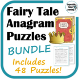 Fairy Tale Anagram Reading Puzzles BUNDLE