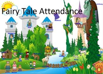 Fairy Tale Attendance for SMART Board