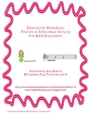 Fairy Tale BAG Recorder Stations or Individual Activities and Worksheets