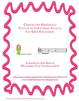 Fairy Tale BAG Recorder Stations or Individual Activities