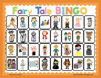 Fairy Tale BINGO {Receptive Language & Comprehension}