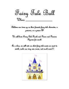 Fairy Tale Ball Information