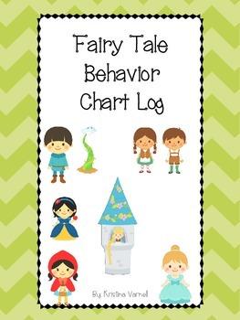 Fairy Tale Behavior Chart Log