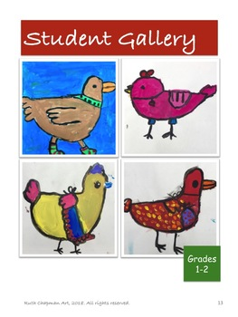 Fairy Tale Birds Art Lesson for Grades K-2