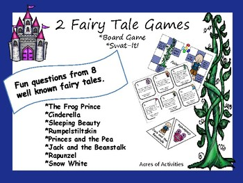 Fairy Tale Board Game and Swat-It