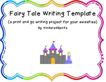 Fairy Tale Book Template By Kinderedspirits Teachers Pay Teachers