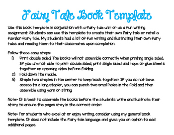 Fairy Tale Book Template
