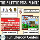 The Three Little Pigs-BUNDLE (PreK-2/SPED/ELL)
