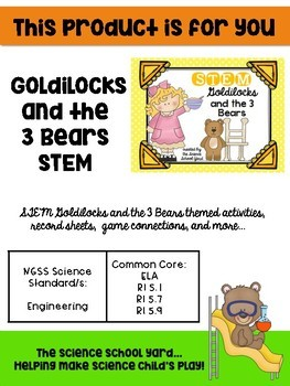 Fairy Tale Bundle:  Three Bears and Jack and The Bean Stalk STEM