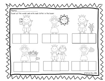 Fairy Tale CVC Writing Worksheet
