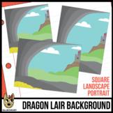 Fairy Tale, Castle, Cave Background Scene Clipart Freebie