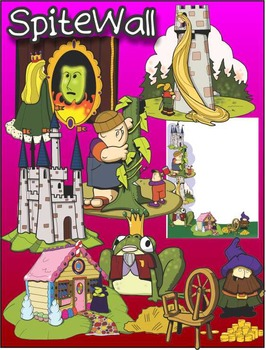 Fairy Tale Characters Clip Art Pack