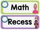 Daily Schedule Clip Chart: Fairy Tale Classroom Decor