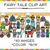 Kids Prince, Princess and Knights Fairy Tale Clip Art