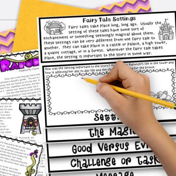 Fairy Tale 3rd Grade 4th Grade Rapunzel RL3.2 RL3.3 RL4.2 RL4.3