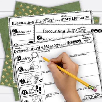 Fairy Tales 3rd Grade 4th Grade Rumpelstiltskin RL3.2 RL3.3 RL4.2 RL4.3