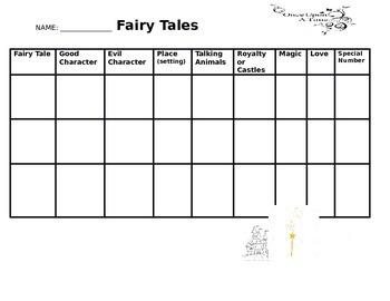 Fairy Tale Comparison Chart