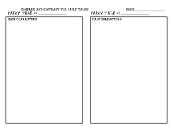 Fairy Tale Comparison Lesson + Worksheet