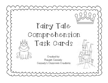 Fairy Tale Comprehension Task Cards