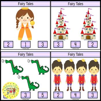 Fairy Tales Count and Clip Task Cards