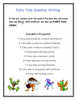 Fairy Tale Creative Writing Packet