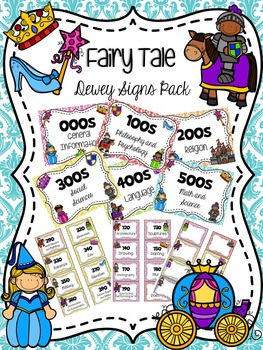 Fairy Tale Dewey Signs Pack