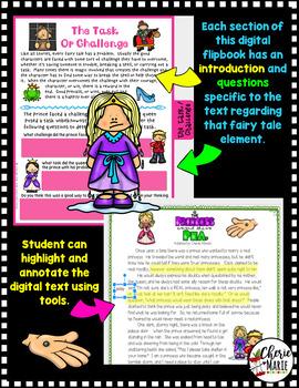 Fairy Tales Digital Flipbook: The Princess & the Pea Digital Classroom RL.2 RL.3