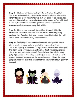 Fairy Tale Drawing Conclusions Activity