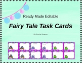 Fairy Tale Editable Task Cards - COMMERCIAL AND PERSONAL