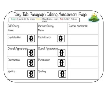 Fairy Tale Editing and Writing Resource Package