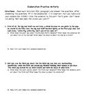 Fairy Tale Elaboration Practice