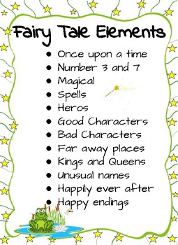 Fairy Tale Elements Anchor Chart