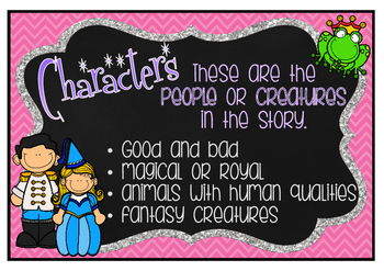 Fairy Tale Elements Charts and Word Cards