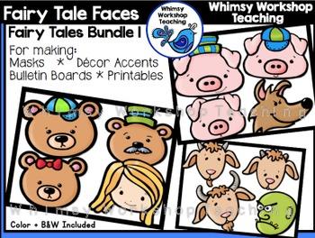 Fairy Tale Faces Bundle 1 Clip Art - Whimsy Workshop Teaching