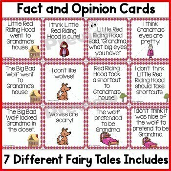 Fact and Opinion With Fairy Tales
