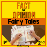Fact and Opinion Literacy Center Activities Fairy Tales Grades 1st 2nd and 3rd