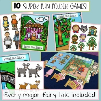 Fairy Tale File Folder Bundle - Small Group Lessons, Early Finishers, & More!