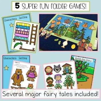 Fairy Tale File Folders Part 1 - Identify Character, Settings, & Major Events