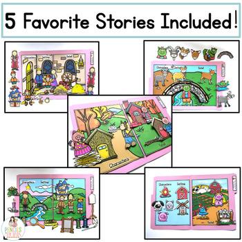 Fairy Tale File Folders Part 2 - Identify Character, Settings, & Major Events