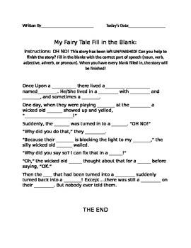 Fairy Tale Fill-in-the-Blank