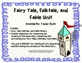 Fairy Tale, Folktale, and Fable Posters/Graphic Organizers