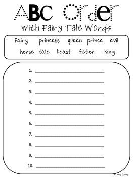 Fairy Tale Freebie