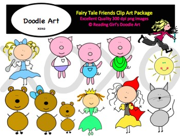 Fairy Tale Friends Clipart Pack